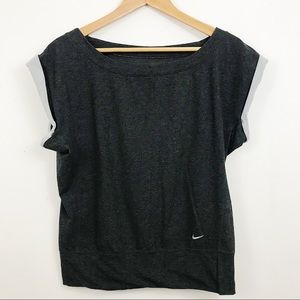Nike dri fit heathered gray work out muscle tank